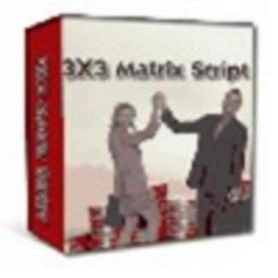 Product picture 3x3 matrix script stormpay paypal egold