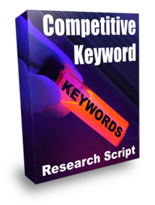 Product picture Competitive Keyword Research Script with Plr