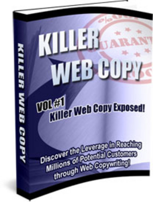Product picture Killer Web Copy 3 Volume Set With Master Resell Rights.zip