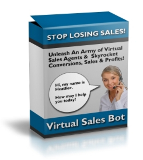 Product picture *New* Virtual Sales Bot With Master Resale Rights.zip