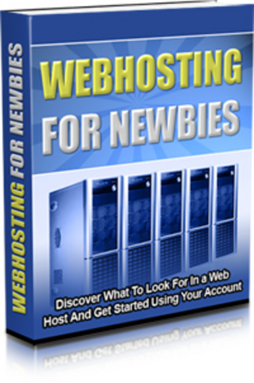Product picture Webhosting For Newbies with  Mrr