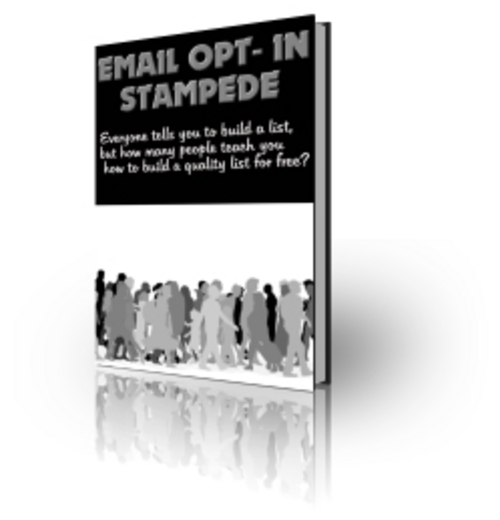 Product picture Email Opt in Stampede   With Private Label Rights