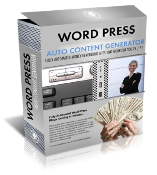 Product picture WP Auto Content Generator With MRR