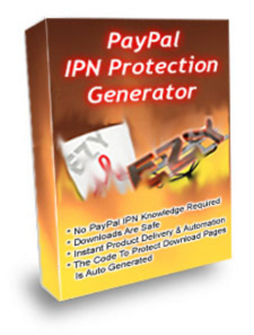 Product picture PayPal IPN Protection Generator With MRR